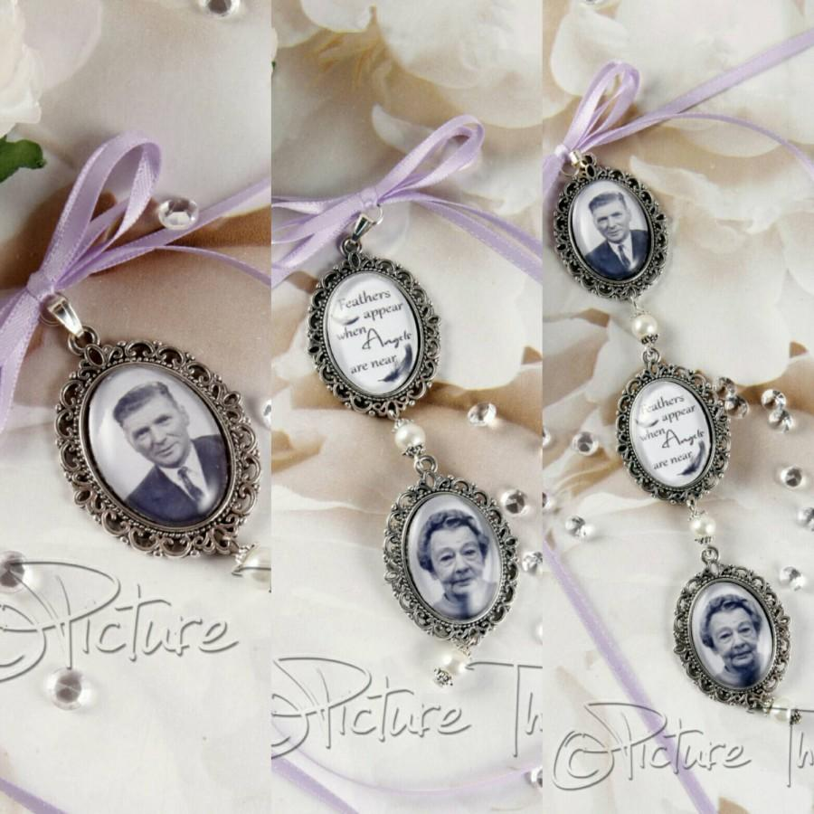 Wedding - Custom Bouquet charm, Wedding Bouquet charm, Personalised bouquet charm, Double bouquet charm, Triple Bouquet Charm, Memorial Photo Charm.