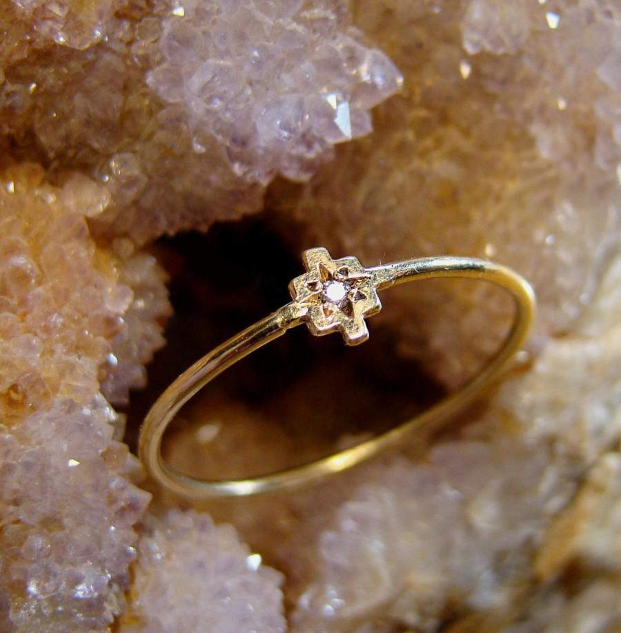 Wedding - Gold and diamonds Rings, Thin Engagement ring, 14k solid gold rings, Engagement Bands, dainty Rings, delicate rings, chakana, diamonds