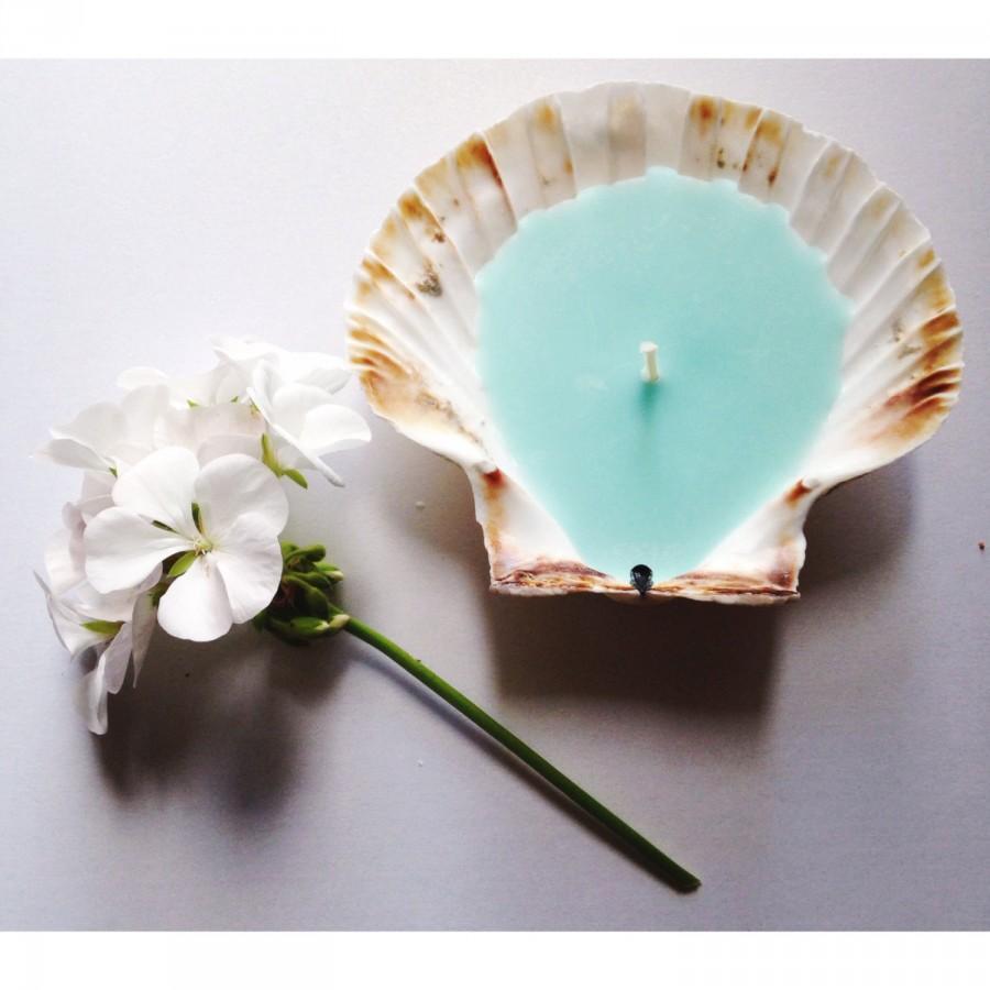 Mariage - Trio of Cornish Scallop Shell Candles
