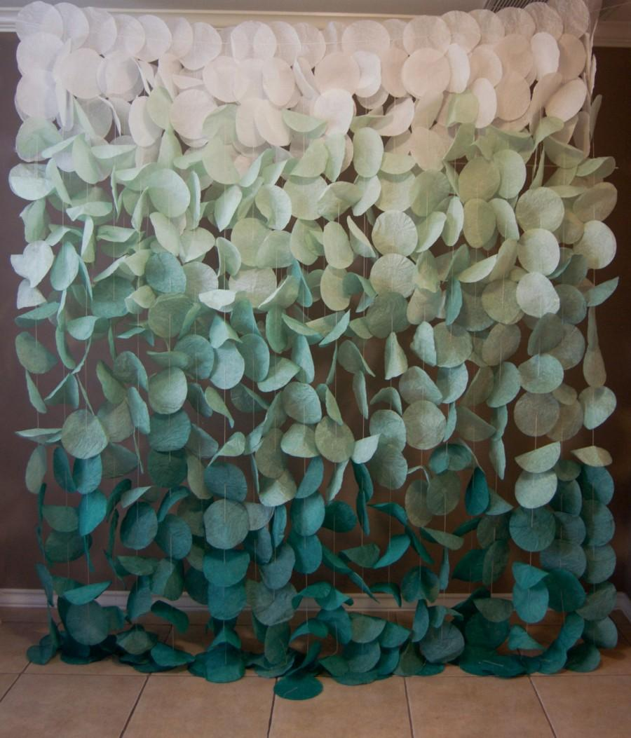 Mariage - Paper Circle Garland: Green Ombre