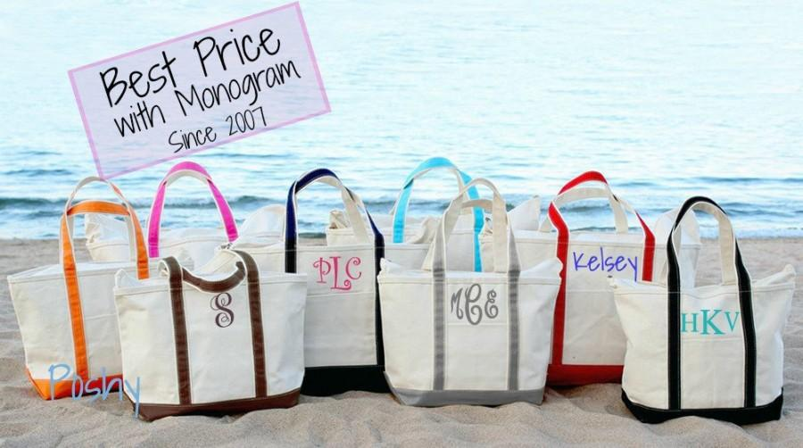 زفاف - Monogram Boat Tote, Large Boat Tote, Personalized Beach tote, Bridesmaid gift, Monogrammed, Personalized bag