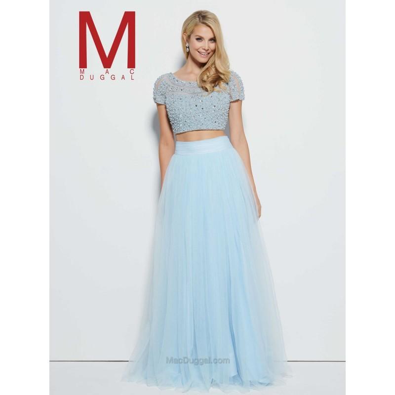 Свадьба - Mac Duggal Prom 20033M Ice Blue,Ivory Dress - The Unique Prom Store