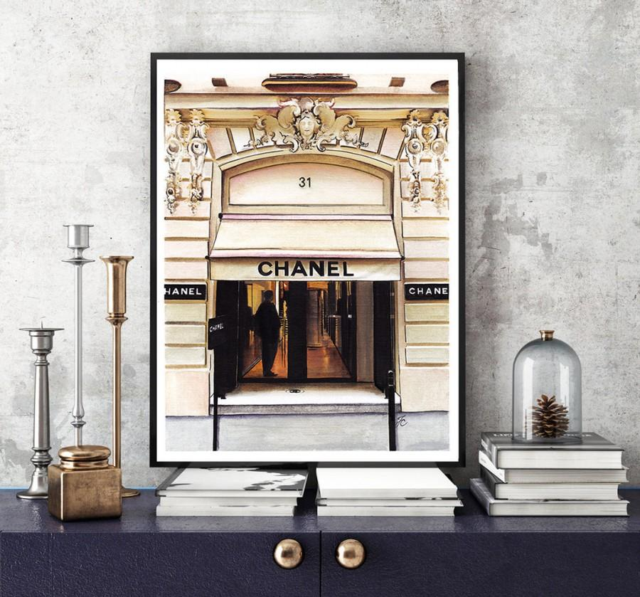Wedding - Chanel, Chanel illustration, Chanel print, Coco Chanel print, fashion illustration, Chanel store, Chanel drawing, fashion poster