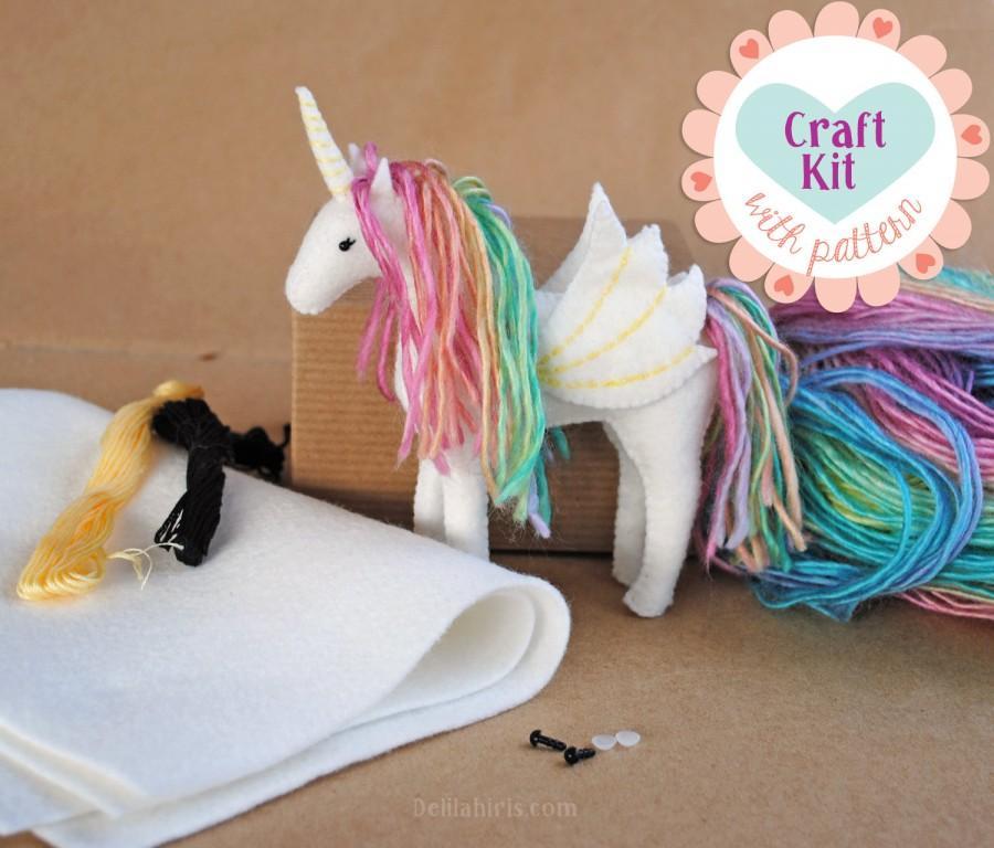 Unicorn Sewing Kit Make Your Own Stuffed Unicorn Diy Craft Kit