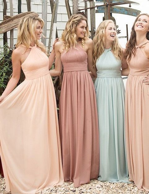 Hochzeit - Halter Chiffon Bridesmaid Dress, Long Bridesmaid Dresses, Cheap Bridesmaid Dresses, Custom Bridesmaid Dresses, Bridesmaid Dresses, 271039 From LoverDresses