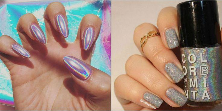 Hochzeit - Holographic Nails Want To Take Your Mani To The Future