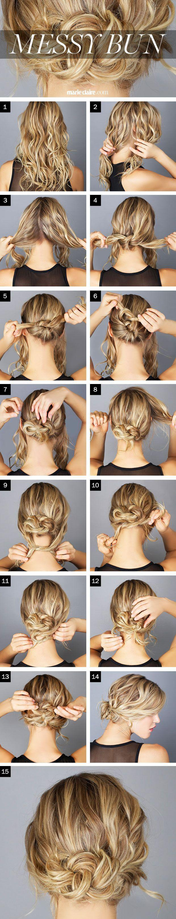 Hochzeit - The Steps To The Perfect Messy Bun! Get Inspired With Haircare From Duane Reade.