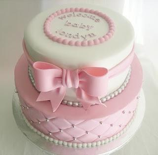Mariage - Made FRESH Daily: Quilted Pink And White Baby Shower Cake!