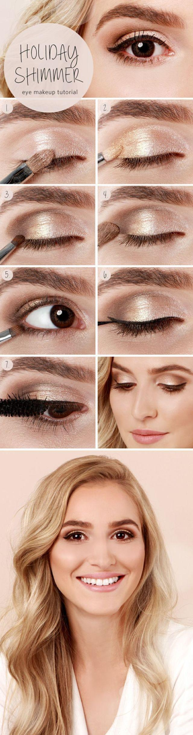 Wedding - 10 Eye Makeup Tutorials From Pinterest To Turn You Into A Beauty PRO