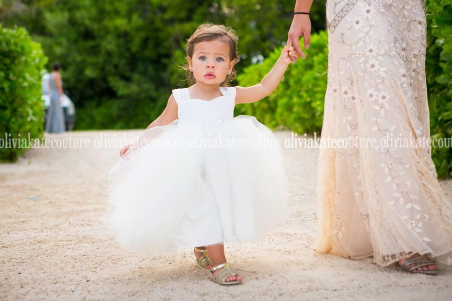 Wedding - Ivory Flower Girl Tutu Dress