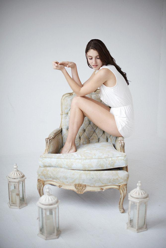 Hochzeit - Romper, ivory romper, bridal romper, lace romper, loungewear - Stella