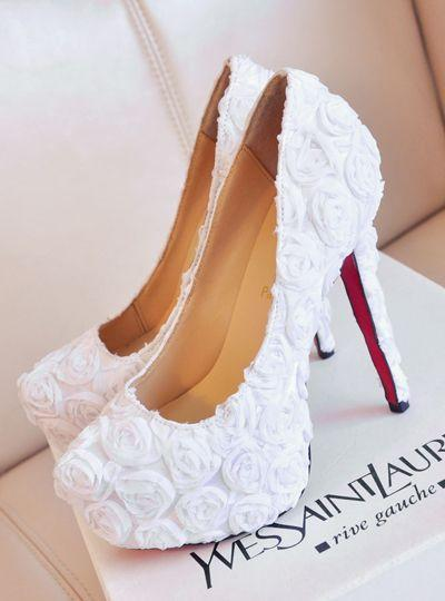 Hochzeit - White Wedding High Hells