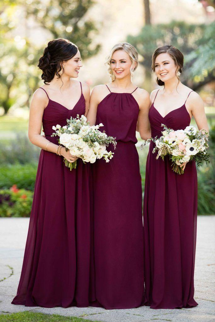 Mariage - Trend We Love: Burgundy Bridesmaid Dresses
