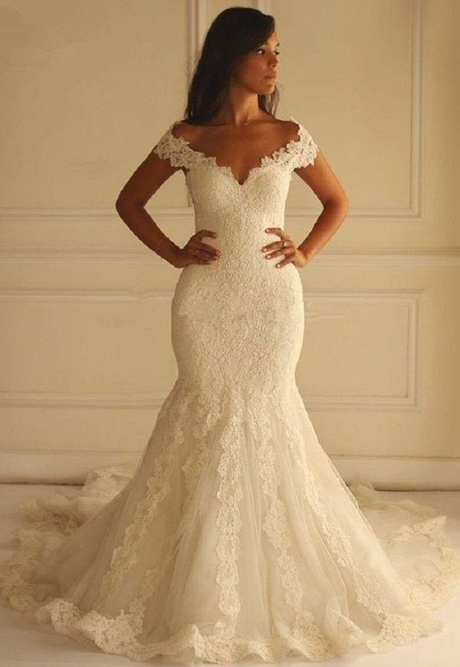 Mermaid Lace Wedding Dress At Bling Brides Bouquet Online Bridal