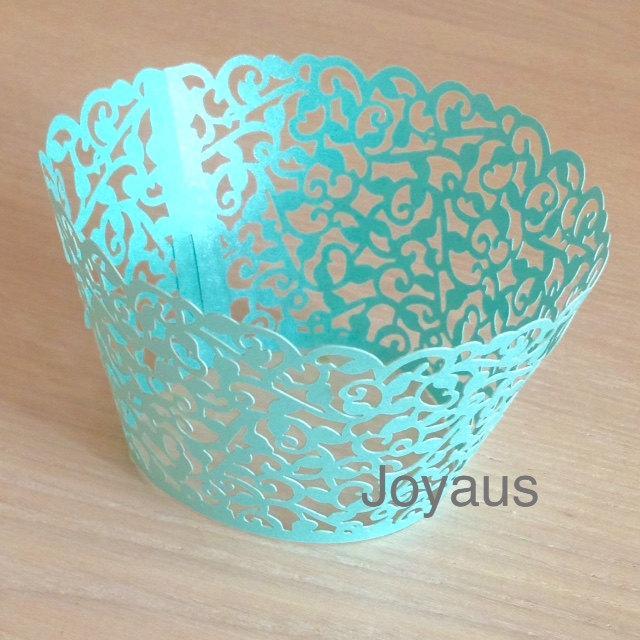 Свадьба - 50x Dark Mint Vine Cupcake Wrapper for Wedding Party Cake Tree  Decoration