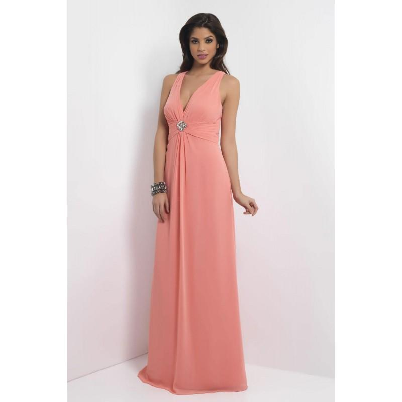 Wedding - Simple A-line Straps V-neck Beading Ruching Floor-length Chiffon Bridesmaid Dresses - Dressesular.com