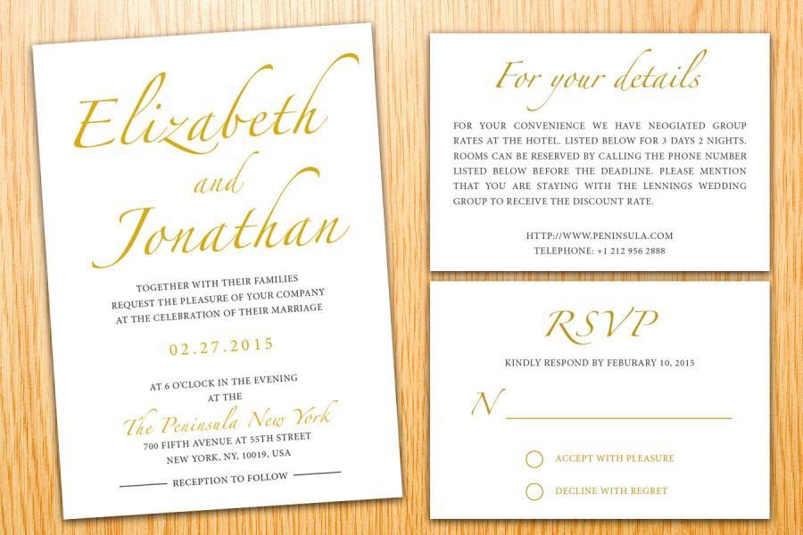 زفاف - Personalized Instant Download Printable Wedding Invitation Suite Minimalist Classic Elegant Modern Wedding Set Customize Wedding Invite Set