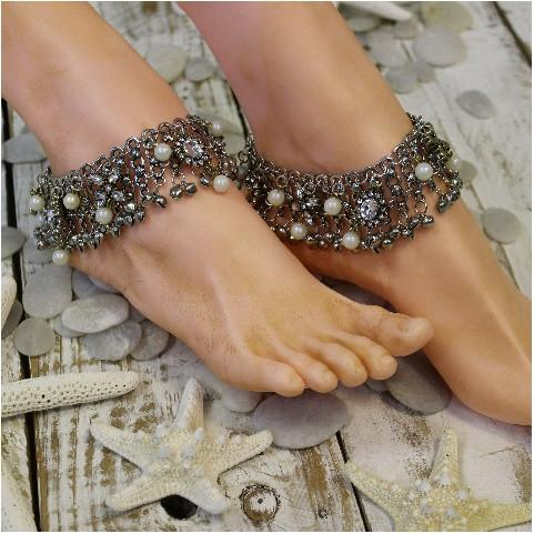 Mariage - GYPSY BRIDE ankle bracelet - antique