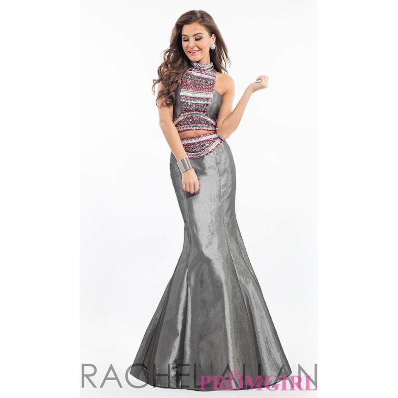 Wedding - Mermaid Style Long Two Piece Prom Dress by Rachel Allan - Discount Evening Dresses