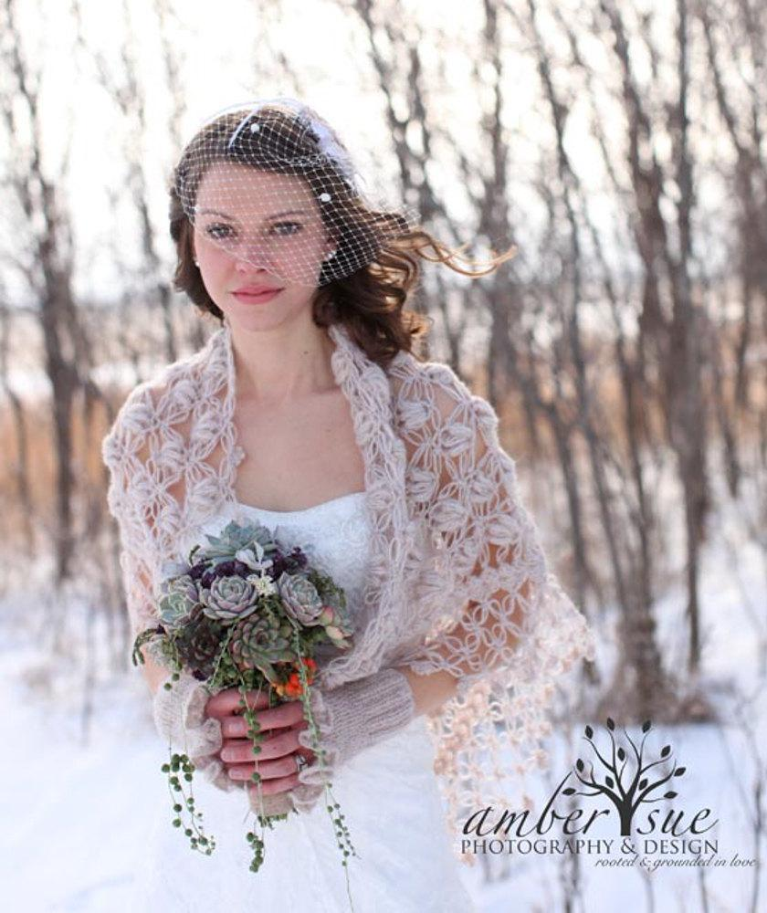 Wedding Shawl Bridal Cape Bridal Shrug Winter Wedding