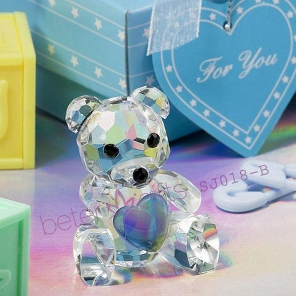 Wedding - Beter Gifts®  Choice Crystal Collection Teddy Bear Figurines(blue)  BETER-SJ018/B