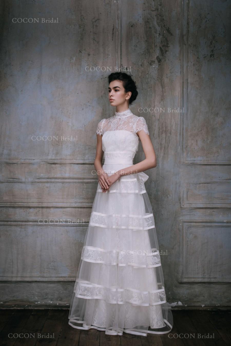 Wedding Dress Two Pieces Dress Wedding Gown With Cardigan Silk ...
