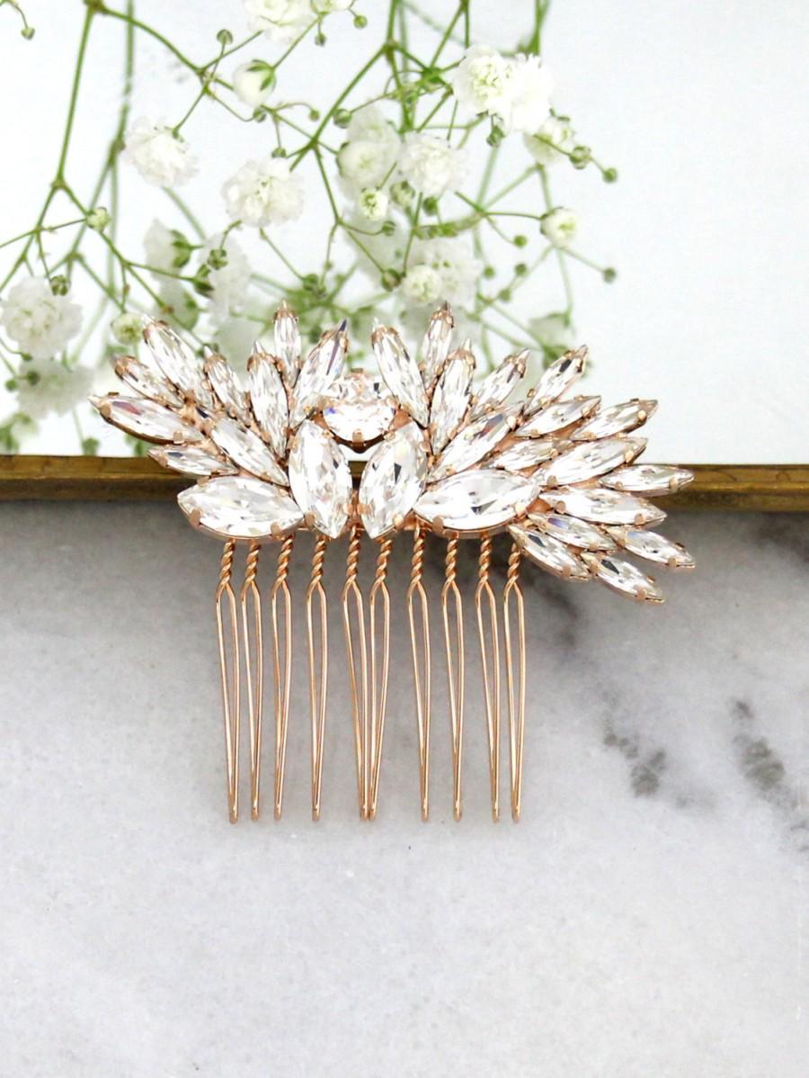 Mariage - Bridal Hair Comb,Swarovski Hair Comb,Rhinestone Hair Comb,Bridal Hair Accessories,Rose Gold Hair Comb,Bridal Silver Hair Comb,Bridal Jewelry