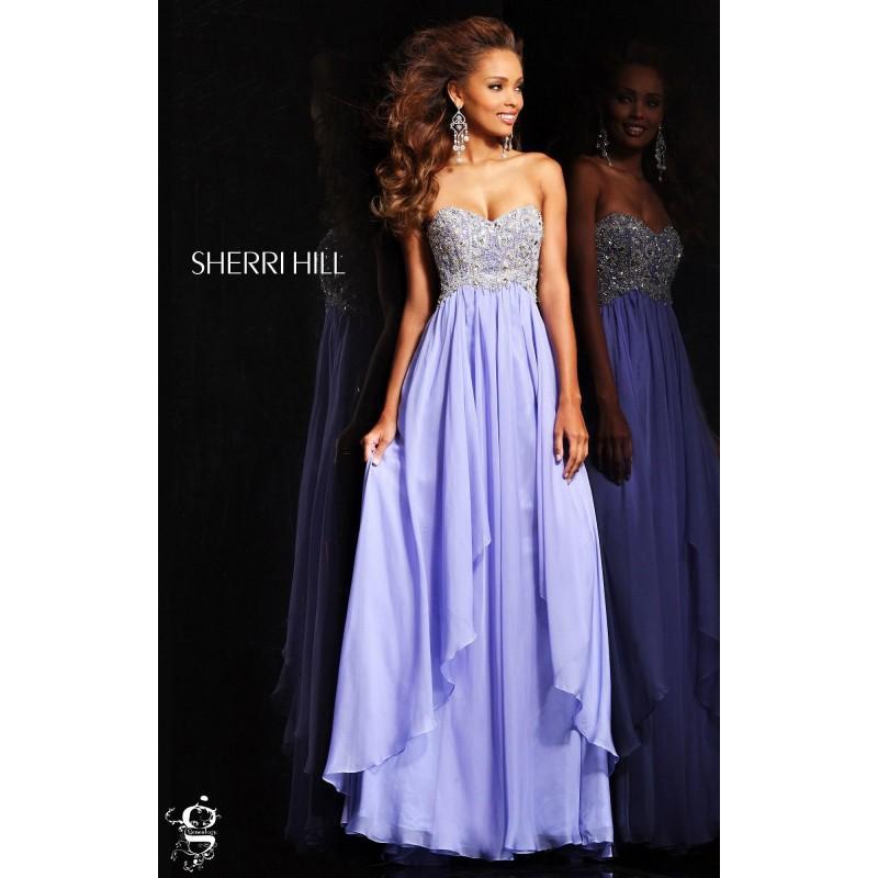 Black Sherri Hill 3862 Plus Size Chiffon Crystals Dress