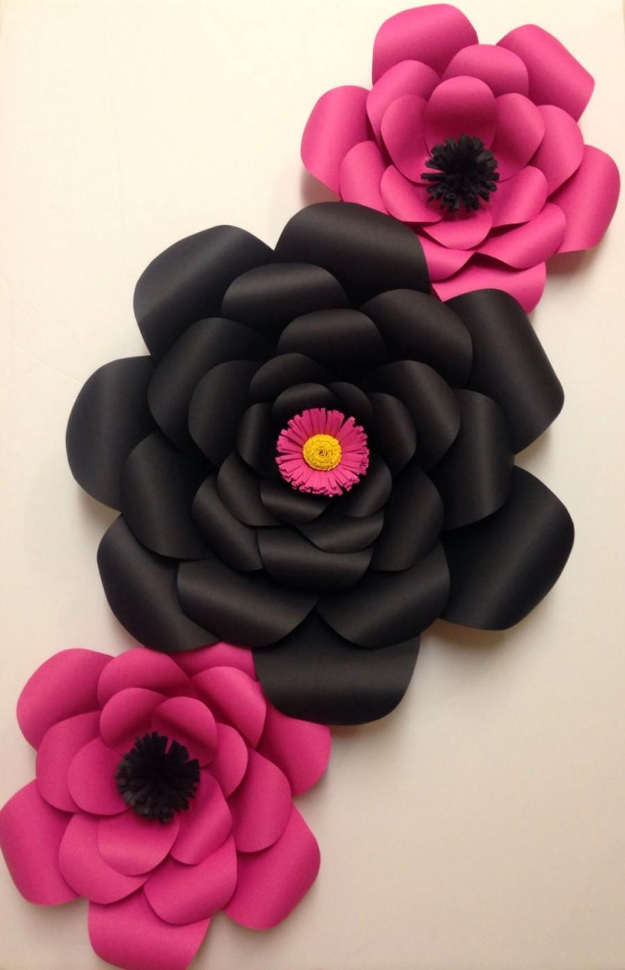 Mariage - Kate Spade Inspired Paper Flower Set - Kate Spade, bridal shower, bachelorette party, room decor