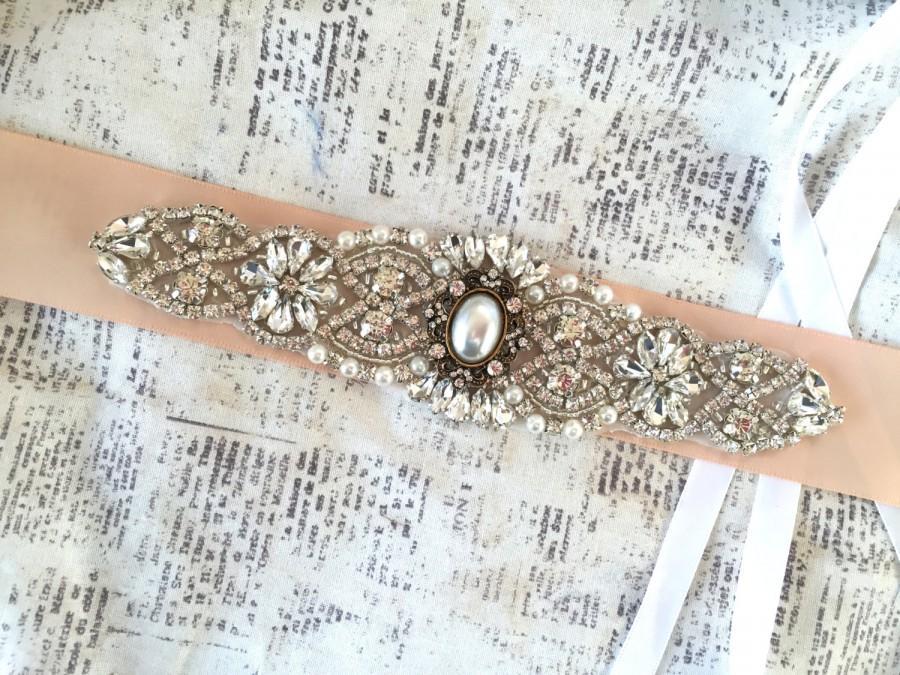 زفاف - Bridal Sash, Bridal Sash Belt, Bridal Sashes and Belts, Bridal Sash Blush, Bridal Sash Pearl, Wedding Sashes for dress