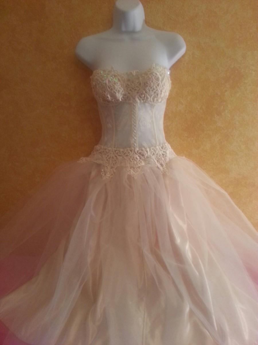 Свадьба - Special Order Only / Sweet Sexy Sex In The City / Carrie Inspired Tea Length Tutu Ballerina Style Ballgown Dress Party Club Bridal Wedding