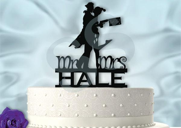 Mariage - Harley and Joker  Wedding Cake Topper
