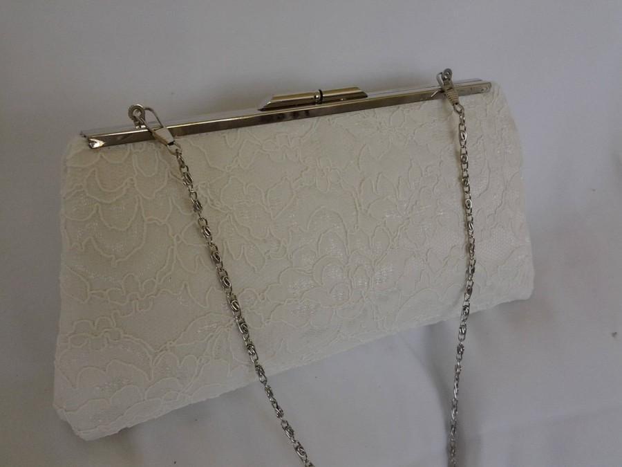 Свадьба - ivory lace wedding clutch purse ivory summer wedding clutch purse BBsCustomClutches