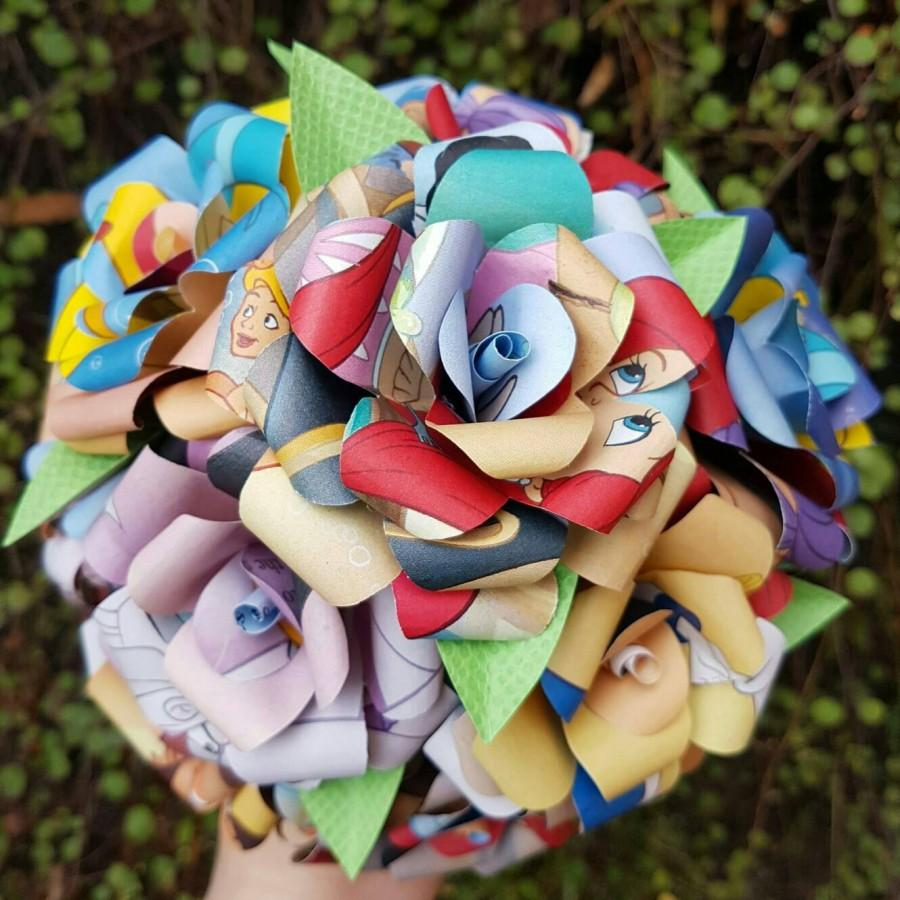 Mariage - The Little Mermaid Book Bouquet-Decor-Wedding-Bridal Bouquets-Book lover gift-Disney- Valentines