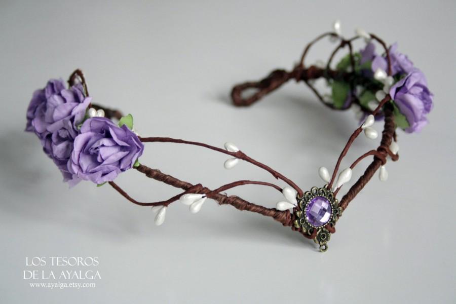 Mariage - elven bride tiara  - elven tiara - fairy circlet