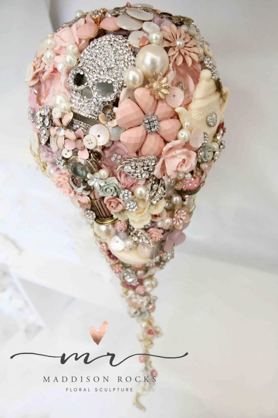 Cascading Whimsical Alternative Bouquet Brides Vintage And Retro