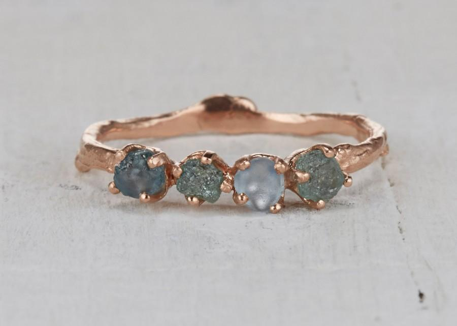 Mariage - Twig Engagement Ring – Montana Sapphire Ring in Yellow Gold, White Gold, Rose Gold or Platinum