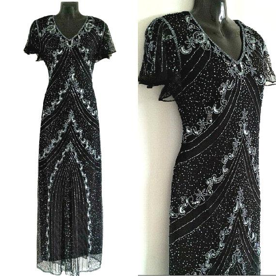 Diva Embellished Flapper Dress, 1920\u0027s Great Gatsby Dress
