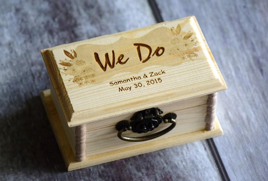 Rustic Ring Box Ring Bearer Box Pillow Alternative Wedding Gift