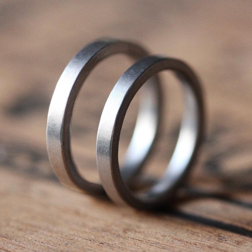 زفاف - Platinum wedding band set, platinum wedding ring, mens platinum wedding band women, platinum band mens, modern wedding ring, custom