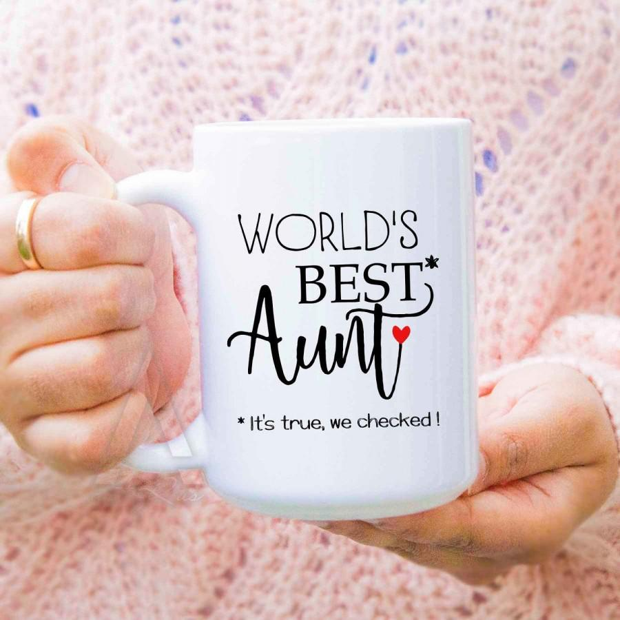 Funny Gift For Aunt Worlds Best Coffee Mug Gifts Auntie Wedding Birthday Presents Aunts MU589