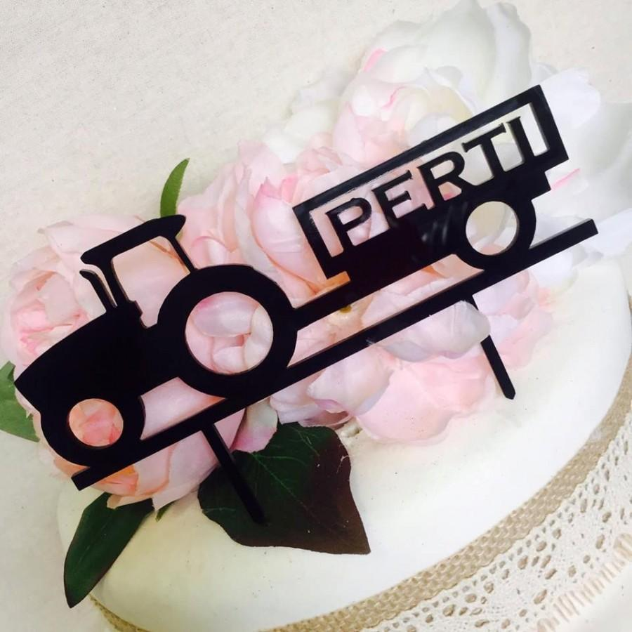 Personalised Tractor Cake Topper Farmer Or Lover With Name Decoration Decorating