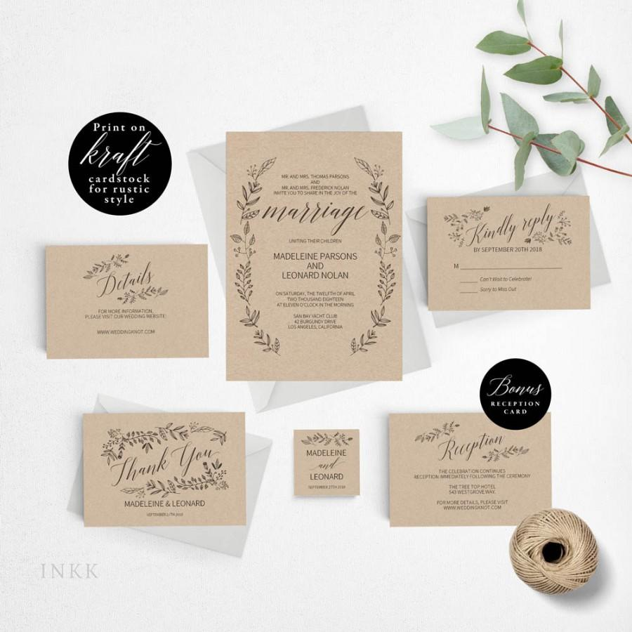 Rustic Wedding Invitation Template Formal Wedding Invitation – Rustic Wedding Invitations Cheap