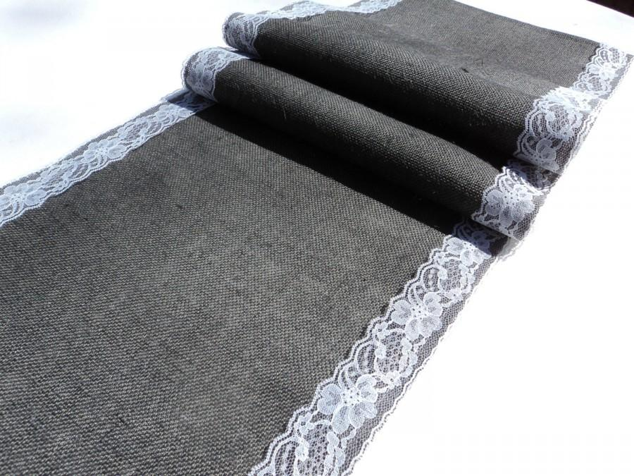 Pick Your Color Burlap And Lace Table Runner 20 Colors To Choose From Rustic Wedding Decorations