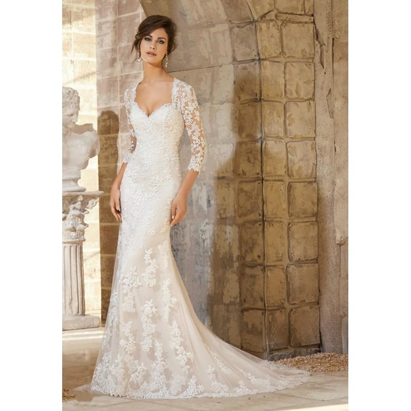 Wedding - Mori Lee Blu 5372 Dress - Wedding Mori Lee Long Dress - 2017 New Wedding Dresses
