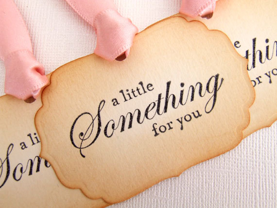 Mariage - Gift Tags, Set of 6, Wedding, Vintage Style, Hang Tags, Favors, Decorations, Shower, Bridal, Tea Party, Luxury Tags, Choice of Ribbon Colour
