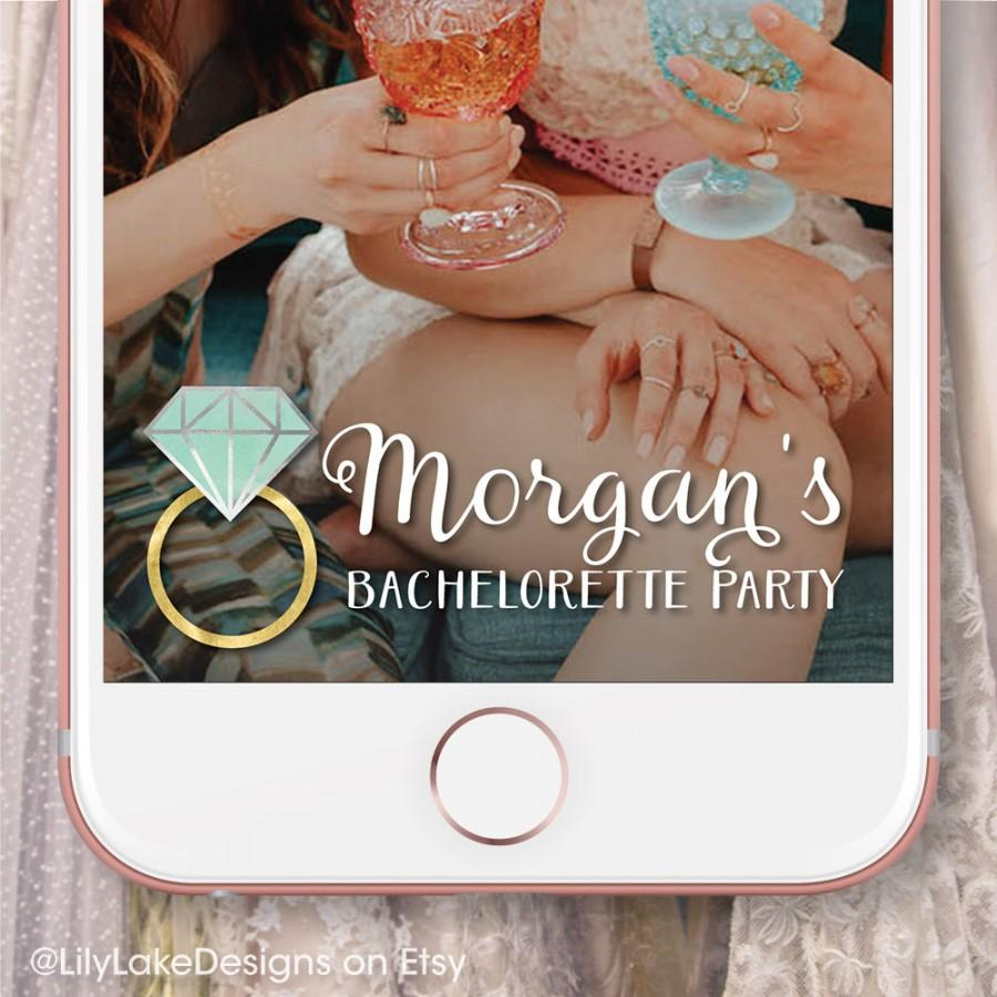 Mariage - Personalized Bachelorette Party Snapchat Geofilter