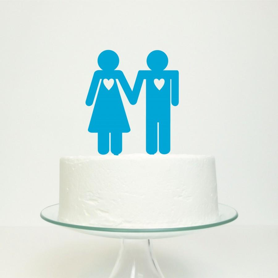 Mariage - His 'n' Hers Wedding Cake Topper