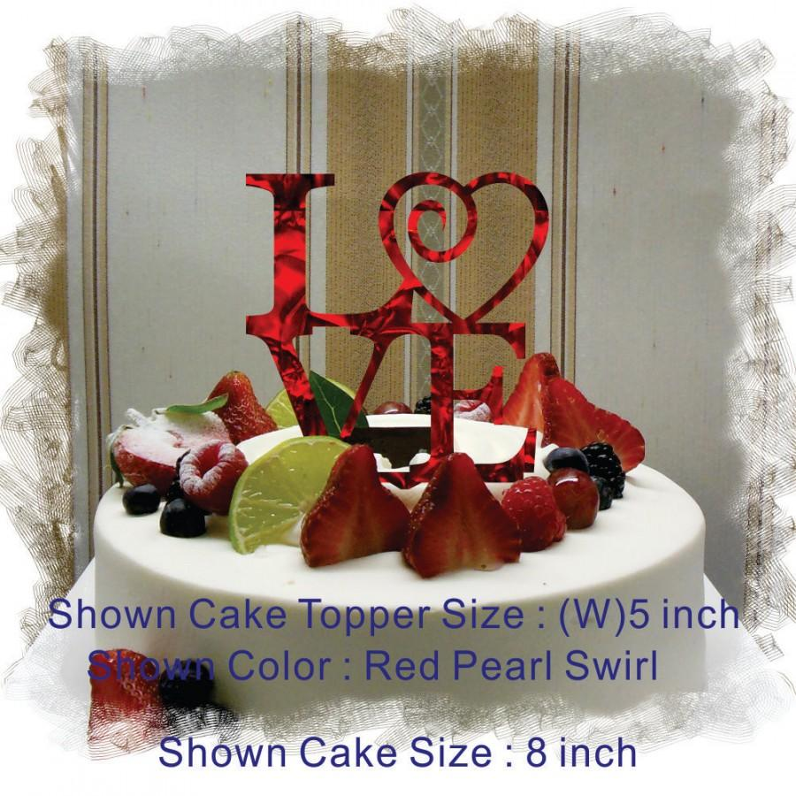 "Mariage - Monogram Wedding 5"" OR 6"" LOVE Cake Topper (Custom Made Fancy Acrylic Laser Cut ) Beautiful Cake Topper"