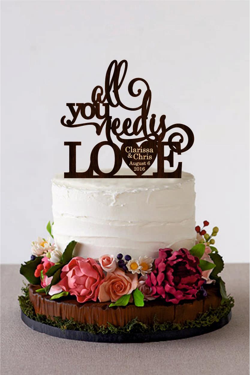 Gold S Wedding Cake Topper